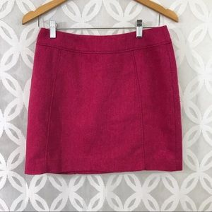 H&M Tweed Herringbone Wool Blend Mini Skirt